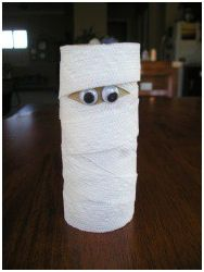 Toilet Paper MummyToilets Paper Tube, Toilets Paper Rolls, Toilet Paper Rolls, Fashion Style, Kids Halloween Crafts, Tp Rolls, Rolls Mummy, Kids Crafts, Bible Art And Crafts For Kids