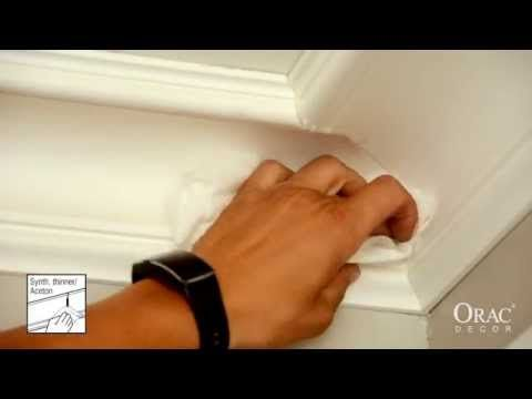 How To Install The Inner Corner of Cornice Mouldings - Orac Decor® Installation Video - YouTube