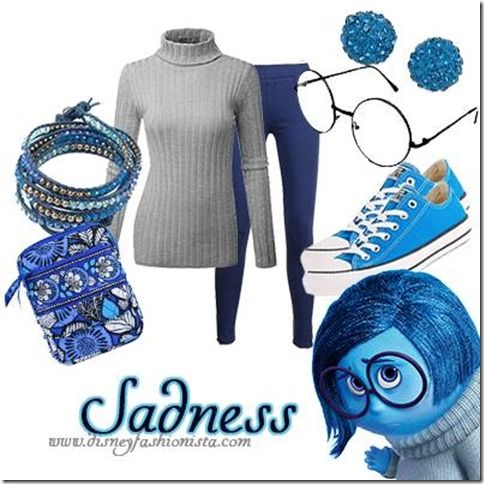 Disney Bounding With The Disney Fashionista- Sadness From Inside Out