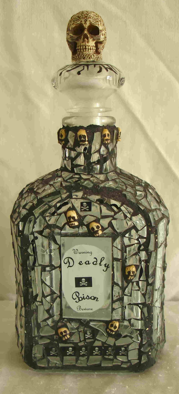 mirrored mosaic bottle @Celia Lynch this one would interest you?