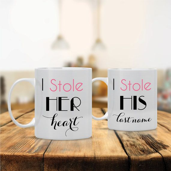 I Stole Her Heart Stole HIs Last Name Coffee Ceramic by MugALove