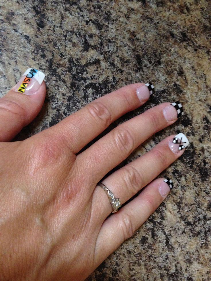 NASCAR nails - 27 Best Nascar Nails Images On Pinterest Nascar Nails, Racing
