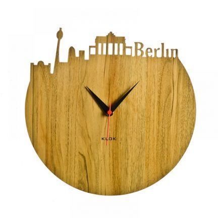 Klok Berlin Wall Clock Beige,Wall Clocks