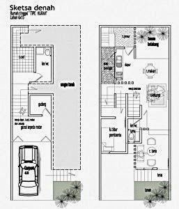 2 lantai tanah luas rumah denah 100m2 on 3 chang'e pinterest