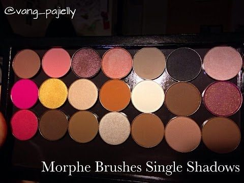 Morphe eyeshadow review with swatches and MAC comparisons - YouTube