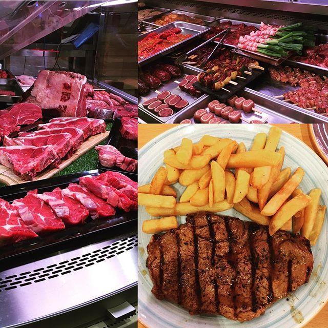 マルタ2日目その② 今日はお肉とポメス。 : #ヨーロッパ #マルタ #ステーキ #フライドポテト #リブアイ #肉 #串焼き #バーベキュー
