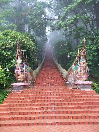 Chaing  Mai - Wat Phra That Doi Suthep Temple (great day hike, great views, beautiful temple)