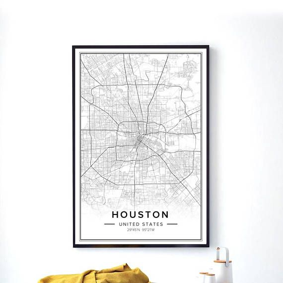 Houston Map, Houston Wall Art, Houston City Map, Houston Print, Houston Poster, Map Of Houston, Map Wall Art, Maps Poster, City Map Art, Pdf INSTANT DOWNLOAD You can print this wall artwork from your home computer or local print shop and decorate your home or office! CUSTOM CITY