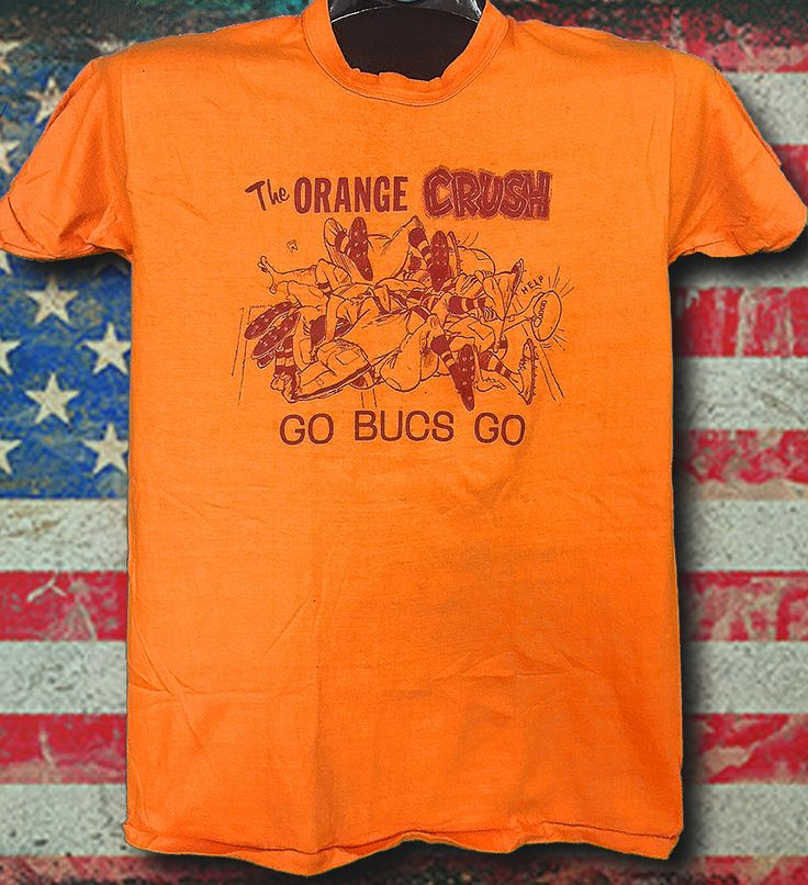 Go Bucs Go the Orange Crush Vintage 36 year old 1979 Central Division Champions NOS never been worn Russell Athletic Orange Tee by RatsHole on Etsy
