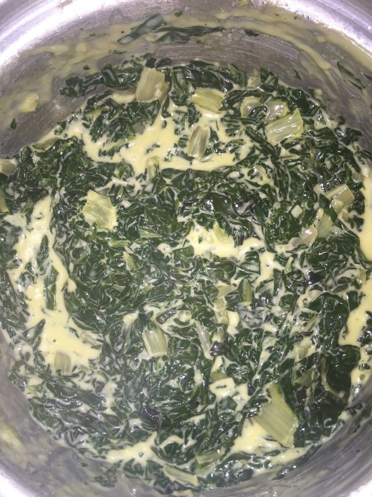 The best Banting Diet garlic creamed spinach recipe