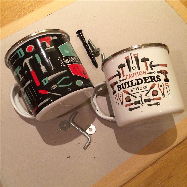 Smaltovaný hrnek pro kutily #hrnek #mug #builder #giftsforhim