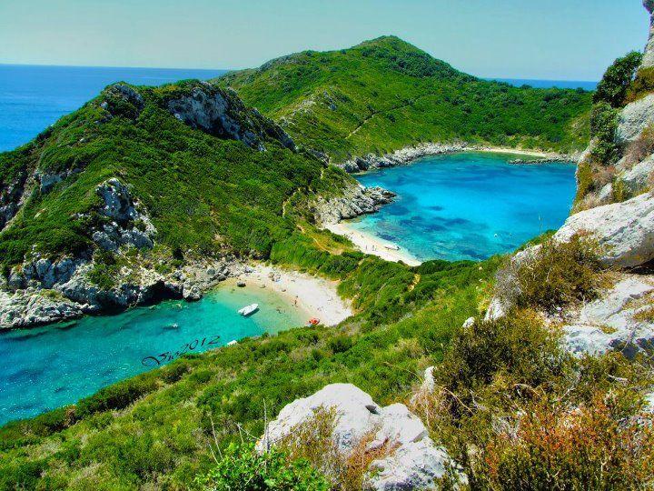 Porto Timoni, Kerkyra (Corfu), Greece  já fui aí! nem acredito!