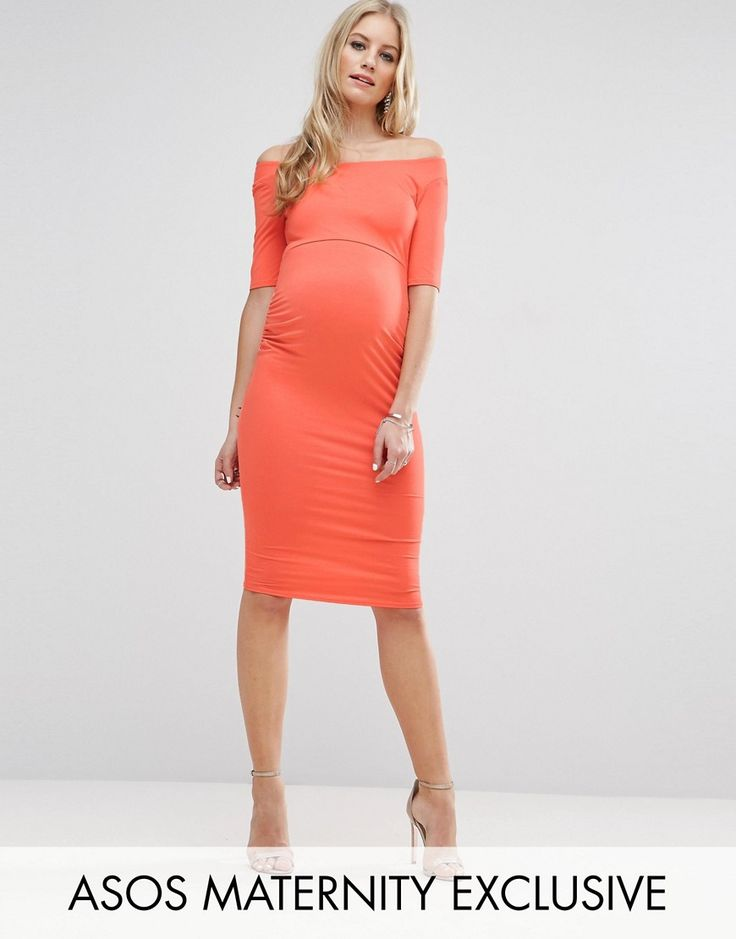 Get this Asos Maternity's jersey dress now! Click for more details. Worldwide shipping. ASOS Maternity Bardot Dress With Half Sleeve - Orange: Maternity dress by ASOS Maternity, Lightweight stretch jersey, Bardot neck, Empire line designed to skim over your bump, Half-length sleeves, Close cut bodycon fit, Designed to fit through all stages of pregnancy, Machine wash, 96% Viscose, 4% Elastane, Our model wears a UK 8/EU 36/US 4 and is 178cm/5'10 tall. Maternity dressing gets bumped up to…