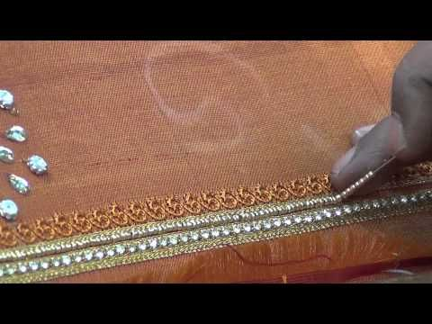 indian bead embroidery - YouTube