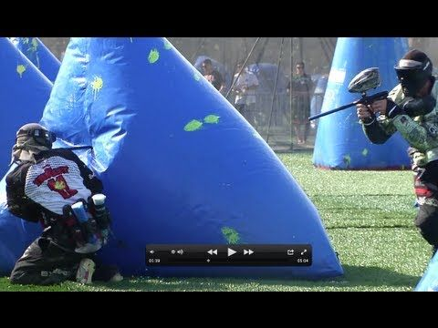 Slow Motion Paintball Executions, Bunkerings and Run Throughs