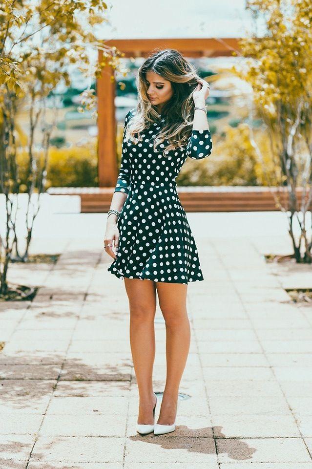 Cute polka dot dress