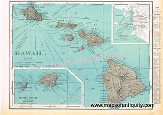 19 best maps and prints of hawaii images on pinterest antique maps antique map hawaii hawaiian islands 1901 rand mcnally gumiabroncs Choice Image