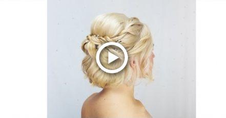 Wedding hair video – short hair