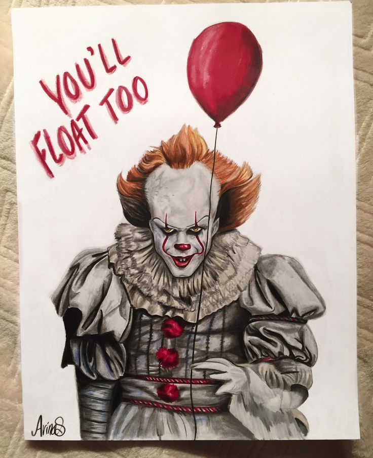 Pennywise- It Pennywise the dancing clown from It Art by Arina Smi
