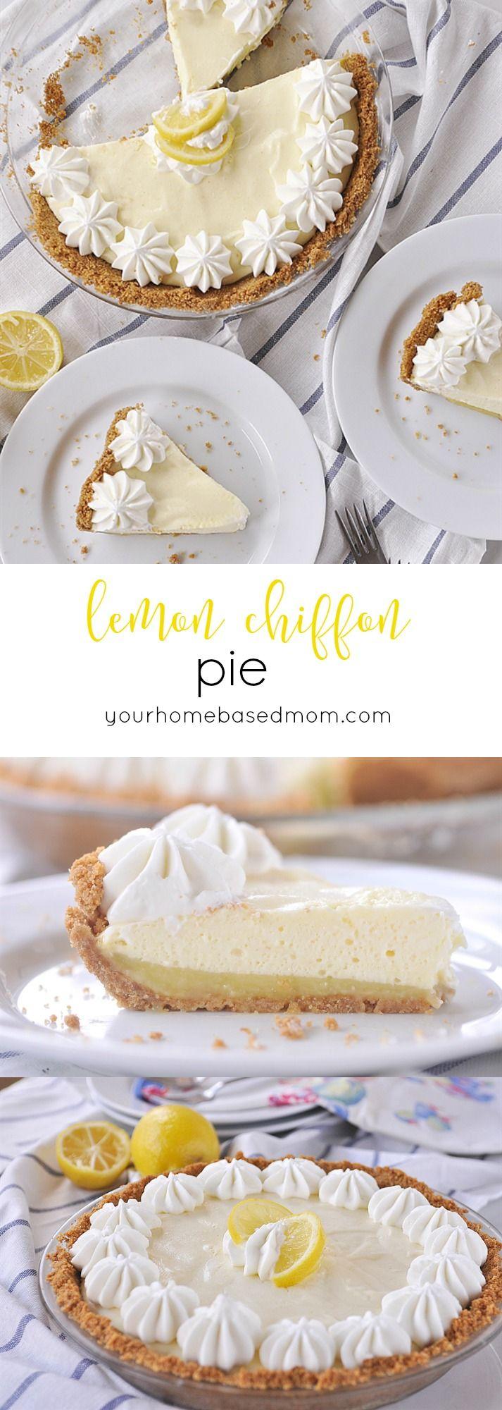 lemon chiffon pie, a light and fluffy delicious lemon pie