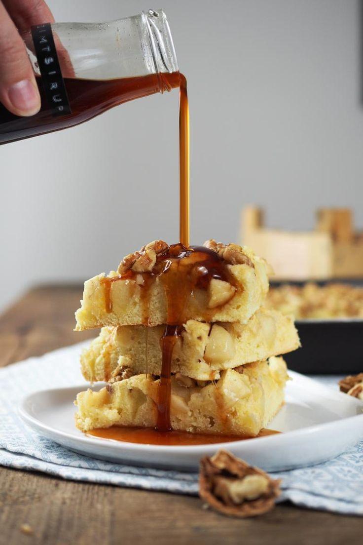Zur vorletzten ichbacksmir-Runde vom Tastesheriff zum Thema Adventsrezepte habe ich nochmal etwas sehr Leckeres gebacken: einen saftigen Apfel-Walnuss-Kuchen mit Zimtsirup! Ich hatte Glück, denn vo…