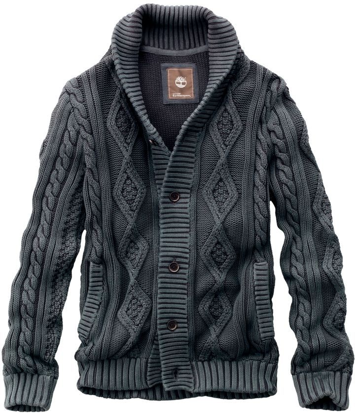 Pair with collared shirt and a loose tie | Timberland Men's Earthkeepers Textured Cardigan Sweater Style 37673 ...