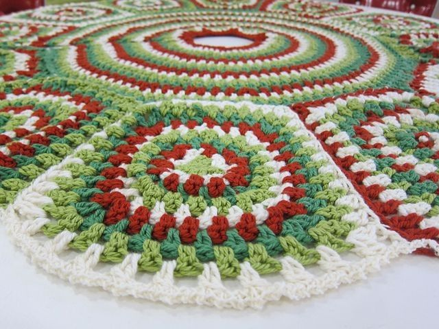 Best crochet christmas tree skirts images on pinterest