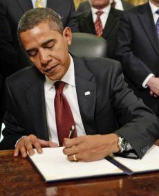 Barack Obama; left handed.