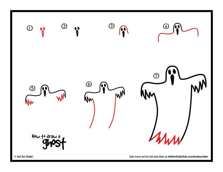 Download how to draw a ghost!