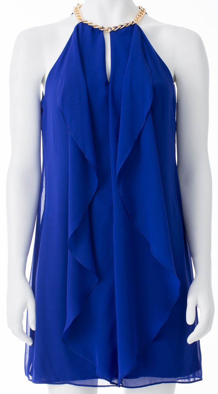Robe bleue, MELANIE LYNE, 225$ * Blue dress, MELANIE LYNE, $225