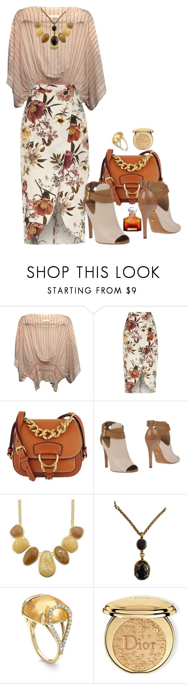 """It's not summer, but it's not autumn yet ..."" by m-kints ❤ liked on Polyvore featuring River Island, Miu Miu, Sergio Rossi, Chanel, Christian Dior, Guerlain and Your"