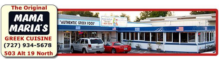 Mama Maria's Greek Restaurant - 503 N Pinellas Ave. (Alt. 19 N.) Tarpon Springs - 727-934-5678