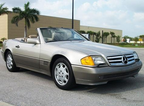 1992 mercedes benz sl class sl500 luxury convertible 6500 for sale in florida for cheap. Black Bedroom Furniture Sets. Home Design Ideas