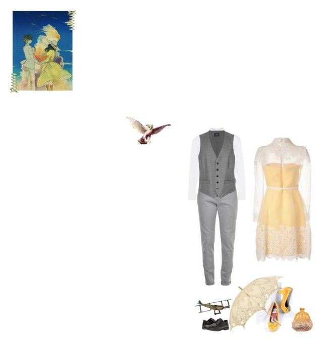 """""""The Wind Rises - Jiro Horikoshi & Naoko Satomi"""" by fashionqueen76 ❤ liked on Polyvore featuring Bettie Page, Topman, Dondup, Valentino, Judith Leiber, United Arrows, Steve Madden and studioghibliadventures"""