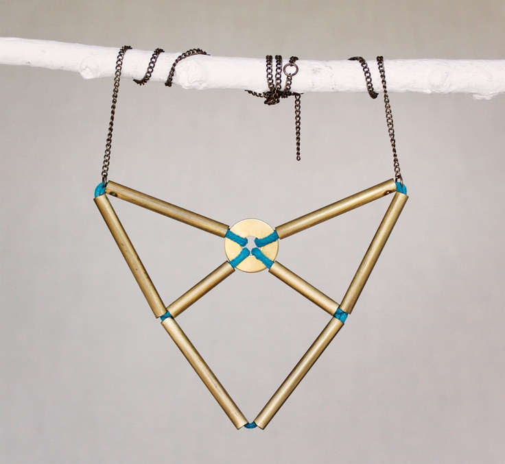 the origami arrow necklace. $50.00, via Etsy.
