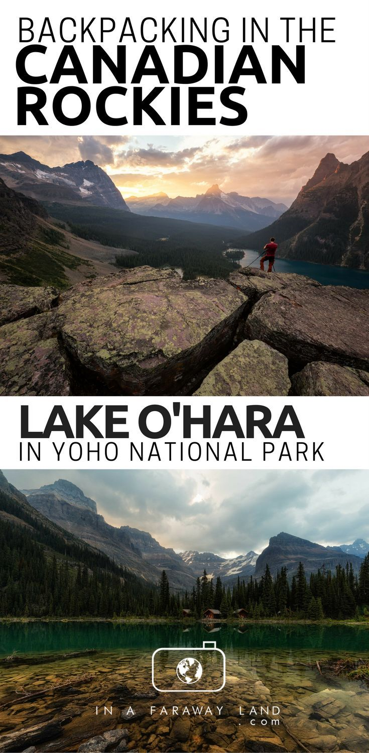 Everything you need to know about backcountry camping and hiking within the Lake O'hara region in Yoho National Park. #Hiking #Camping #Backpacking #Canada #outdoors