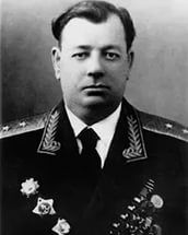 Lieutenant-General Gluzdovsky Vladimir (1903 - 1967), Soviet military commander, during the Great Patriotic War. He was appointed the Chief of Staff of the 31st Army (1941), since Feb 1943 - the commander of the 31th Army. The Commander of the 7th Army (Feb 1944). The commander of the 6th Army (Dec 1944). The Army participates in the Vistula-Oder, and then the  Lower Silesian operations. The 6th Army surround and block Breslau, and accept the surrender 40k Nazi garrison, on May 6th, 1945.
