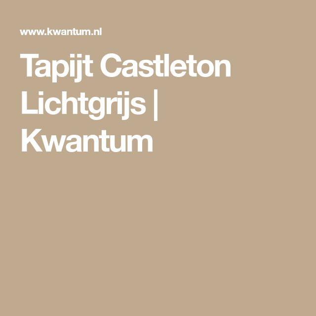 Tapijt Castleton Lichtgrijs | Kwantum