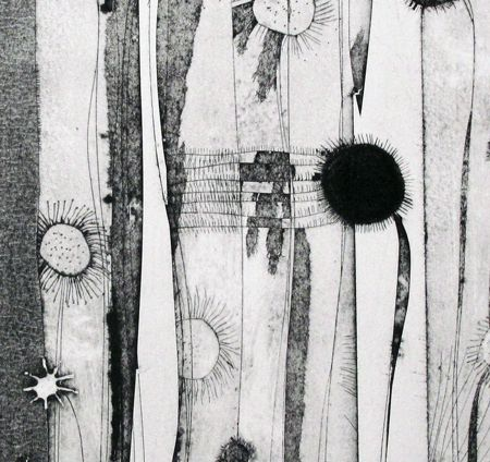 Tessa Horrocks is a print-maker who makes original prints using the 'intaglio' technique collagraph.