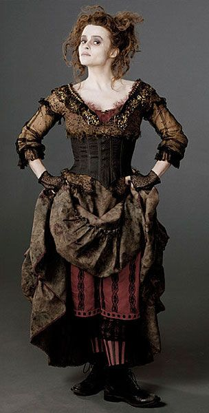 Mrs Lovett. Colleen Atwood is the awesome costume designer. Maybe this should be pinned on my Halloween board?