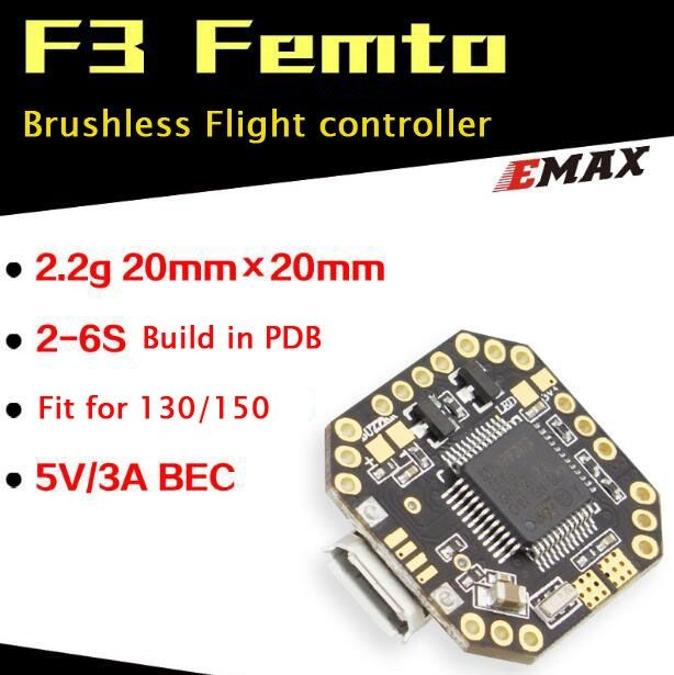 (29.57$)  Watch now  - Genuine EMAX F3 Femto flight controller brushless FC build in PDB 9-axis electronic compass for 130/150 RC quadrocopter FPV