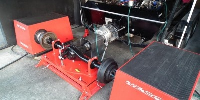 Jet Boat Dyno Rig. Dyno set up for tuning jet boats Designed and built by Red1 Fabrication for NZEFI