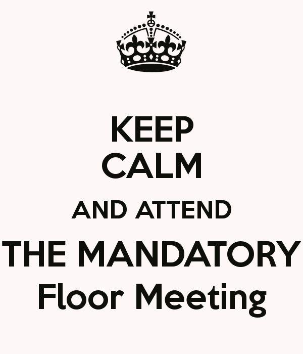 Floor Meeting Flyers