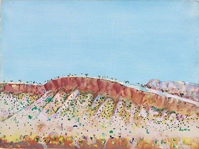 Fred Williams  Hamersley landscape , 1979  gouache on paper