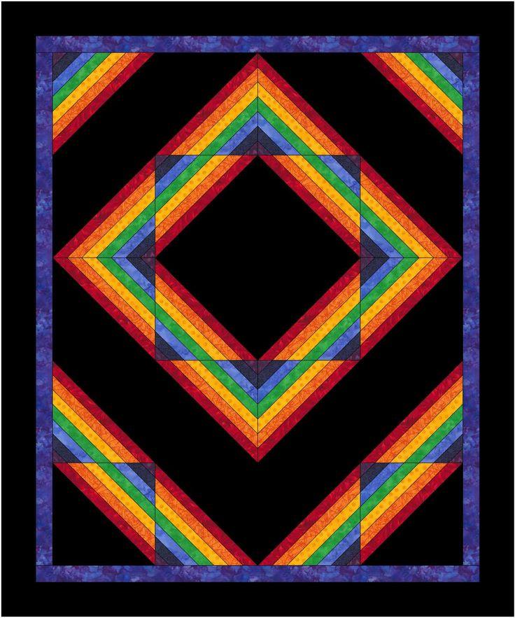 Design Information at KennyKreations - Beautiful Machine Embroidery: Amish Rainbow, Single hoop Blocks