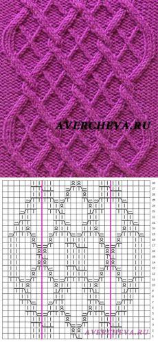 """Pattern 802 """"Diamantes en el patrón de diamante»    patrón de tejer con agujas directorio"""
