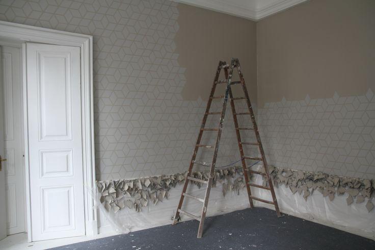 Væg dekoration  malet Mønster