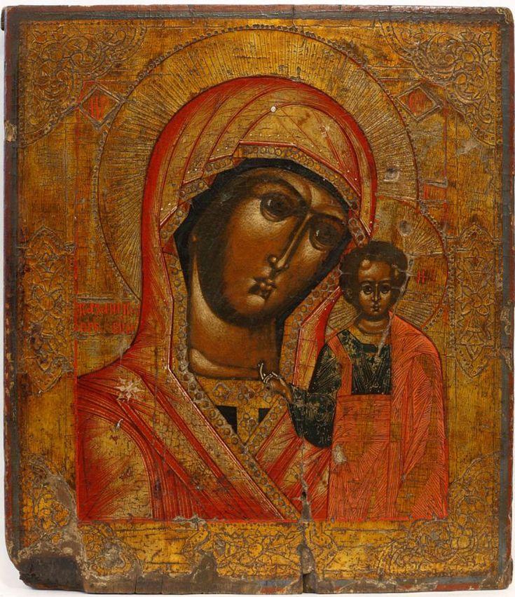 Казанская икона Пресвятой Богородицы, 19 в., Эстония, частное собрание