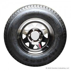 13″ Spare Tire and Wheel (2005-2013), Bias Ply tire *$159.95* (Part #: BB206N) Kendon 13″ Wheel and Bias Ply Trailer Tires. Can be used as a replacement or spare for Kendon motorsport trailers, model years 2005-2013.