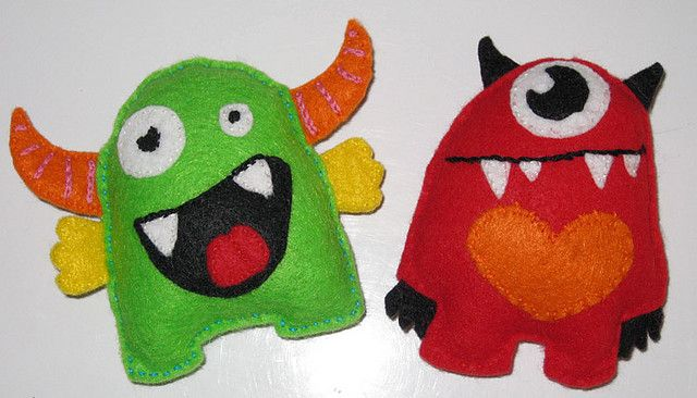.: Adorable Monsters, Fantastic Felt, Buntings Ideas, Cute Monsters, Felt Monsters, Baby Projects, Baby Rooms, Girls Rooms, Monsters Mashed